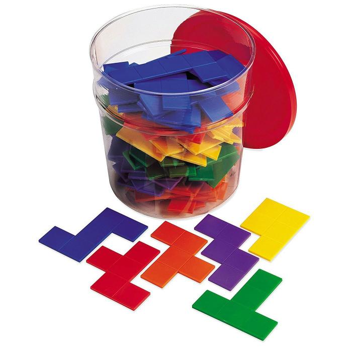Piese tetris curcubeu - Pentomino - jucarie educativa 0
