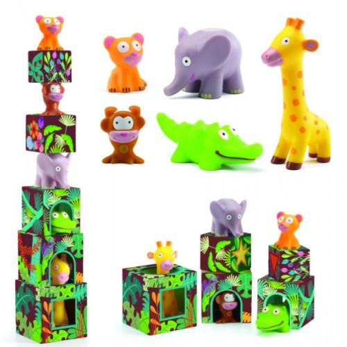 Maxi Topanijungle - Joc cu cuburi si figurine 0