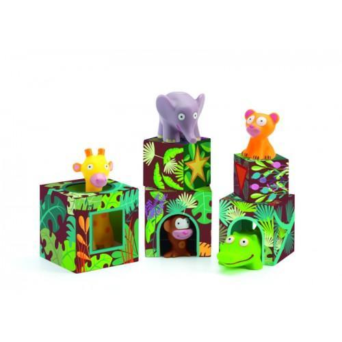 Maxi Topanijungle - Joc cu cuburi si figurine 3