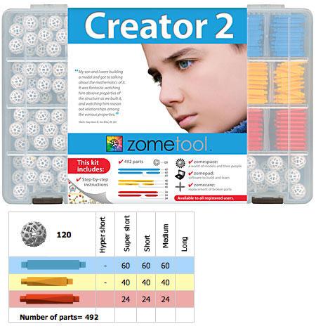 Set stiintific de constructie Zometool - Creator 2 2