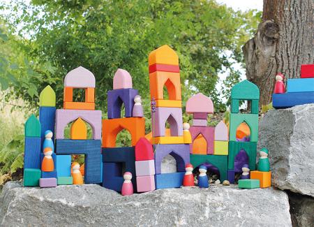 1001 Nopti fermecate - Set mare puzzle forme geometrice lemn2