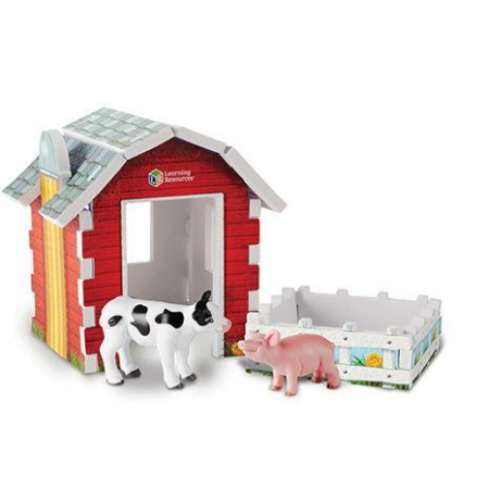 Animale ferma cu hambar - Set figurine mari0