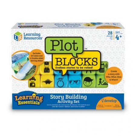 Inventeaza povesti - Plot Blocks - Set zaruri de poveste - Gradinita sau acasa1