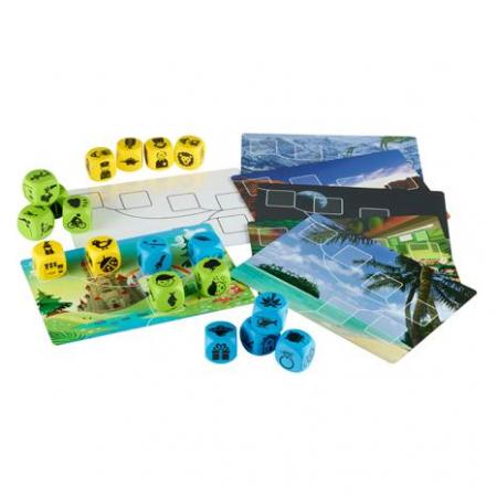 Inventeaza povesti - Plot Blocks - Set zaruri de poveste - Gradinita sau acasa0