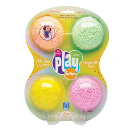Playfoam - Spuma modelabila cu sclipici in 4 culori0