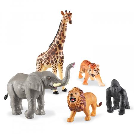 Set animale jungla - figurine mari pentru bebelusi0