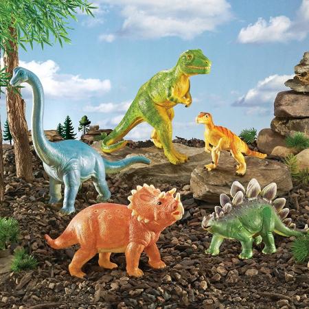 Set dinozauri - figurine mari pentru bebelusi2