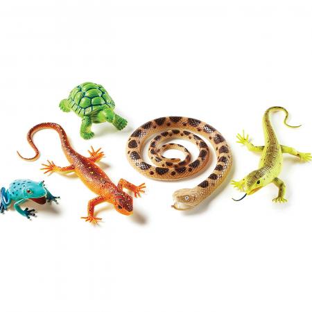 Set reptile si amfibieni - figurine mari pentru bebelusi0