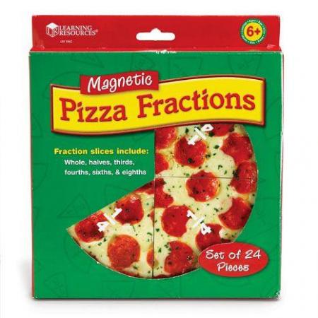 Felii de pizza magnetice - Sa invatam fractiile4