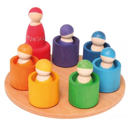 7 prieteni in 7 casute - Set figurine0