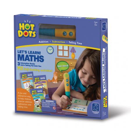 Set matematica - 3 carti de activitati si un stilou vorbitor HotDots1