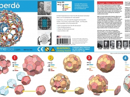 Set stiintific de constructie Zometool - Hyperdo3