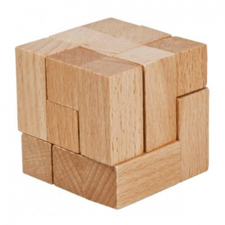 Joc logic IQ Cub din lemn - varianta 20
