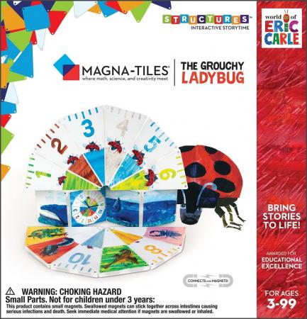 Set de constructie piese magnetice CreateOn Magna-Tiles - Gargarita morocanoasa By Eric Carle 16 piese6