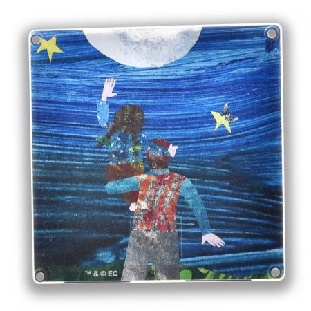 Set de constructie piese magnetice, CreateOn Magna-Tiles -  Tati, te rog, adu-mi luna de pe cer By Eric Carle, 16 piese1