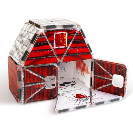 Set de constructie piese magnetice, CreateOn Magna-Tiles -  Paianjenul cel harnic By Eric Carle, 16 piese3