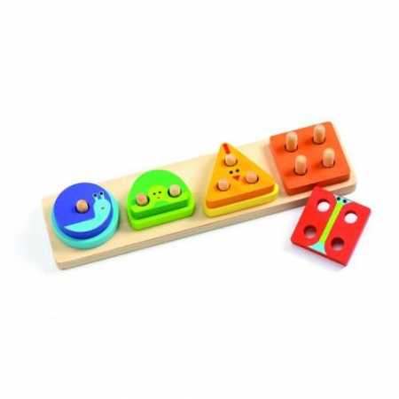 Jucarie motorica - Potrivire forme colorate de lemn0