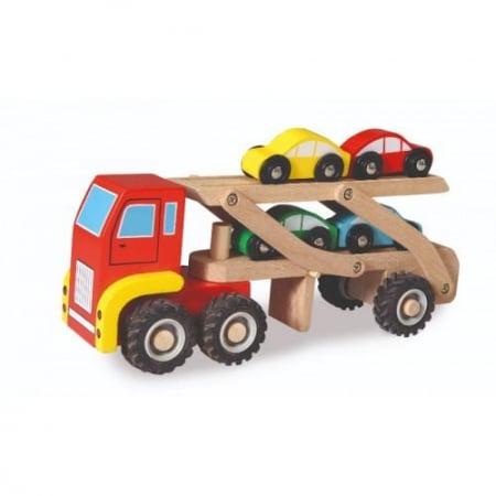 Camion cu masini - Jucarie de lemn0