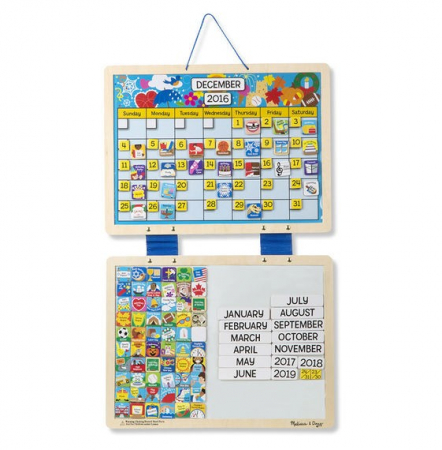 Calendar din lemn magnetic [2]