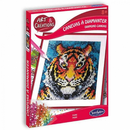 Canvas cu Diamante – Tigru