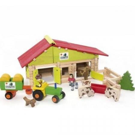 Casuta Ferma cu tractor si animale - 140 piese1