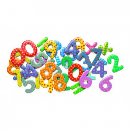 Cifre magnetice colorate pentru copii0