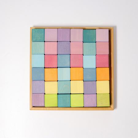 Cuburi Mozaic nuante pastel mediu [2]