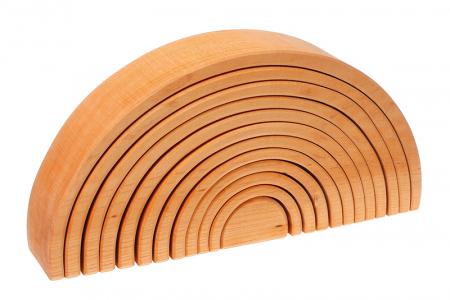 Curcubeu 12 piese - varianta lemn natur0