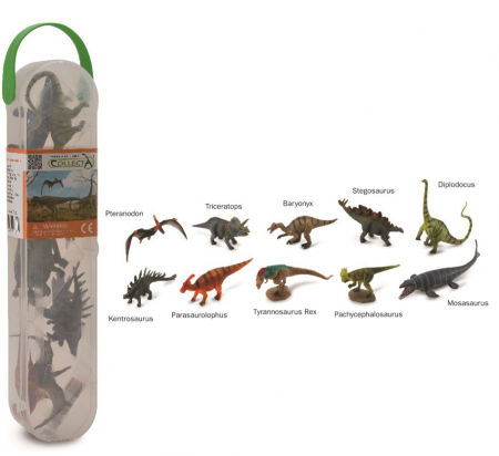 Cutie cu 10 minifigurine Dinozauri set 1