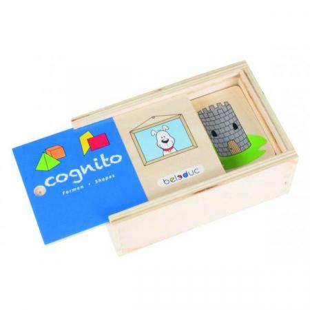 Cognito - Set de lemn pentru invatare forme si culori0