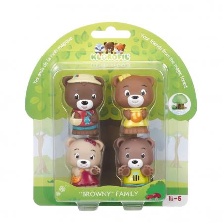 Familia de ursuleti Browny - Set figurine joc de rol