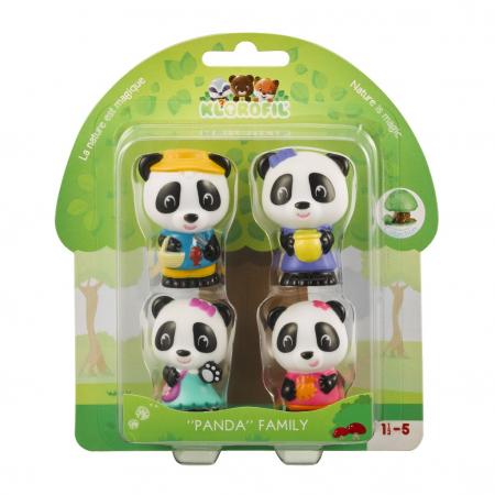Familia de ursuleti Panda - Set figurine joc de rol
