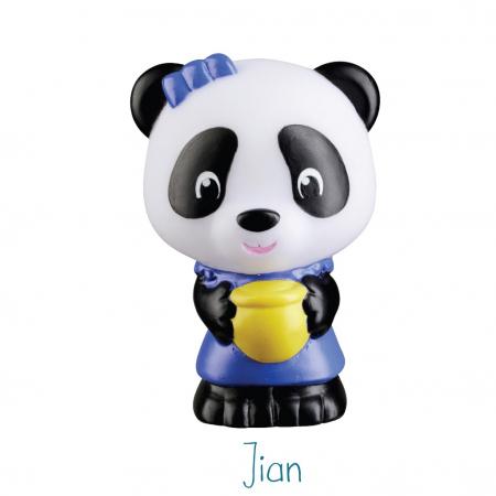 Familia de ursuleti Panda - Set figurine joc de rol [4]