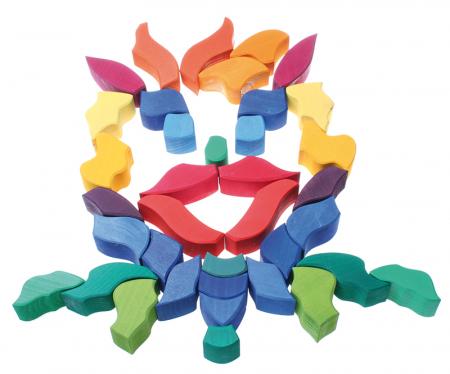 Fluturele Curcubeu - puzzle senzorial si creativ [5]