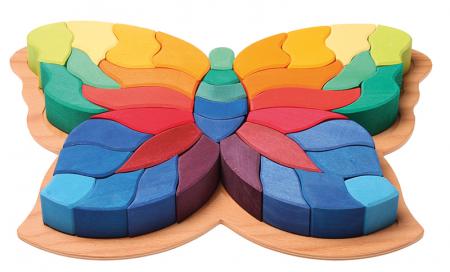 Fluturele Curcubeu - puzzle senzorial si creativ [1]