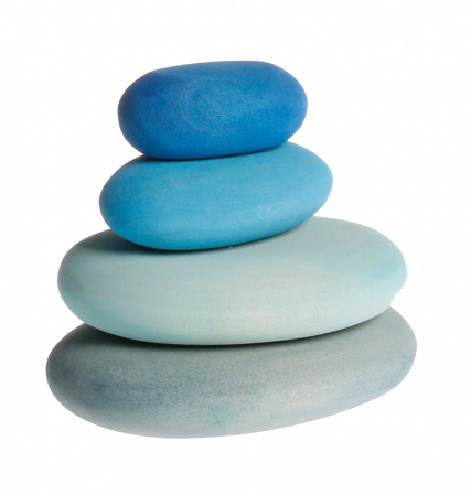 Forme in echilibru oval nuante de albastru [0]
