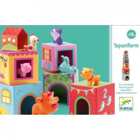 Topanifarm - Joc cu cuburi si figurine1