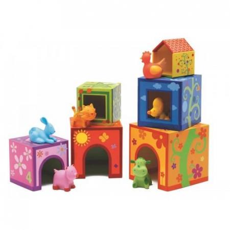Topanifarm - Joc cu cuburi si figurine2