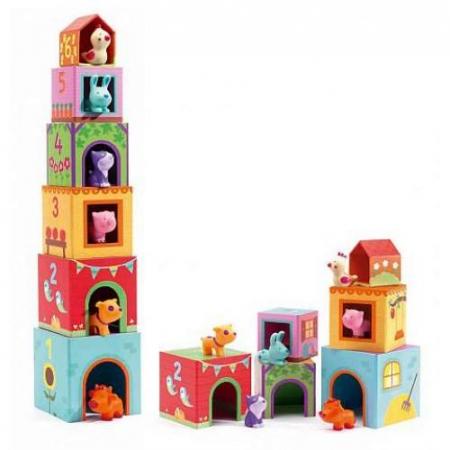 Topanifarm - Joc cu cuburi si figurine0