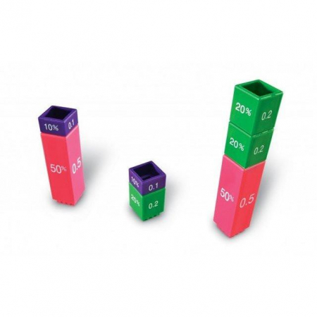 Turnul fractiilor - cuburile echivalentei - set educativ