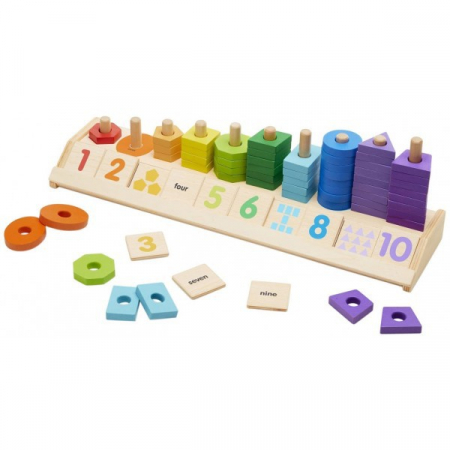 Joc din lemn Sorteaza si numara [2]