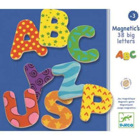 38 Litere magnetice colorate pentru copii1