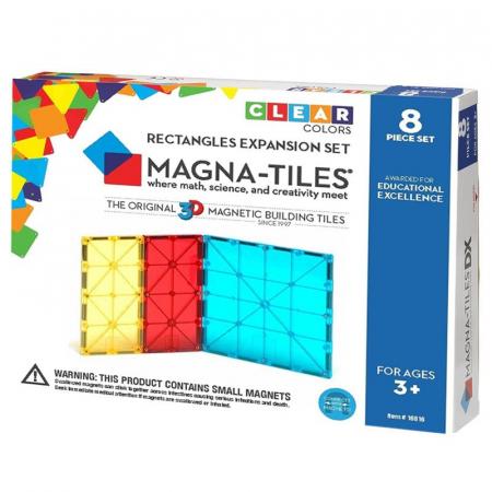 Magna-Tiles Extensie Dreptunghiuri - 8 piese0
