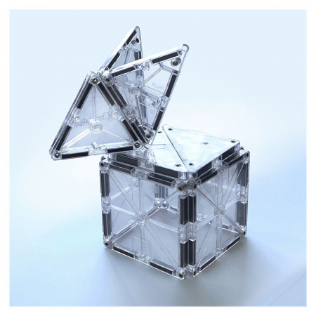 Magna-Tiles ICE Transparent - set magnetic - 16 piese3