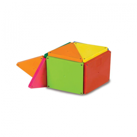 Magna-Tiles Solid Colors set magnetic - 100 piese2