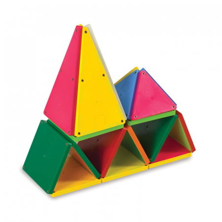 Magna-Tiles Solid Colors set magnetic - 100 piese1