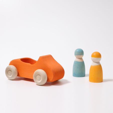 Masinuta dubla cu sofer si pasager portocaliu1