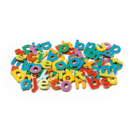 83 Litere magnetice colorate pentru copii