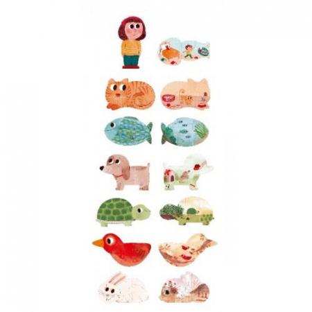 Puzzle cu animale de companie