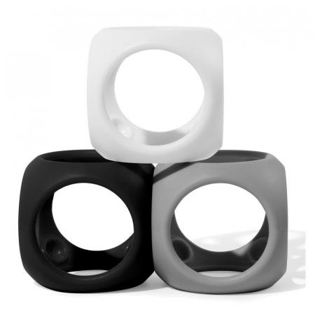 Oibo - set 3 jucarii senzoriale flexibile - Monocrom0